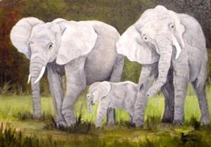 Detail Image for art Elephants  //SOLD