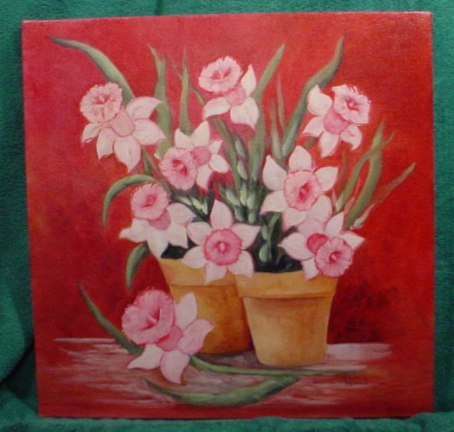 Art: Mon Cherie Daffodils //SOLD by Artist Barbara Haviland