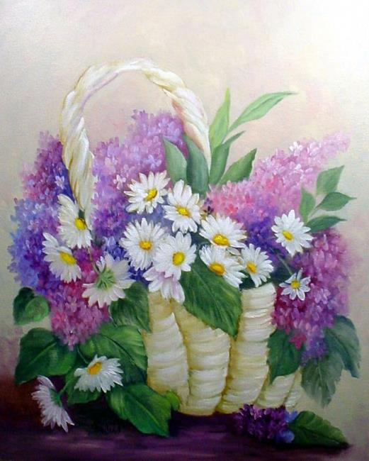 Art: Lilacs & Daisies //SOLD by Artist Barbara Haviland