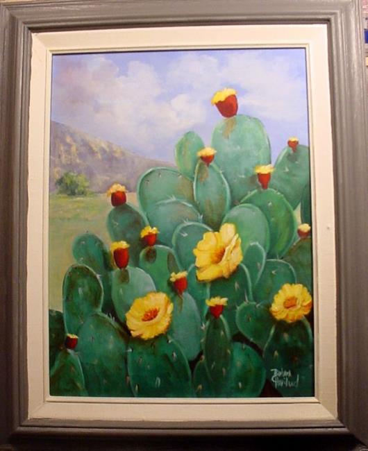 Art: Cacti in Bloom Big Bend //SOLD by Artist Barbara Haviland