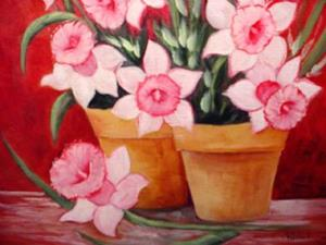 Detail Image for art Mon Cherie Daffodils //SOLD