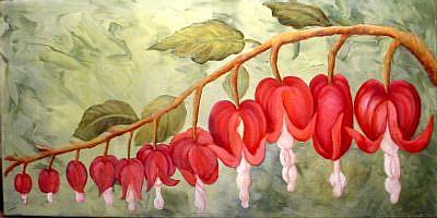 Bleeding Heart Flower Painting