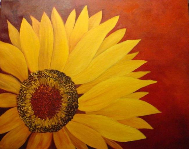 Art: Sunflower//sold by Artist Barbara Haviland