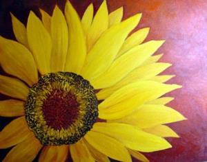 Detail Image for art Sunflower//sold