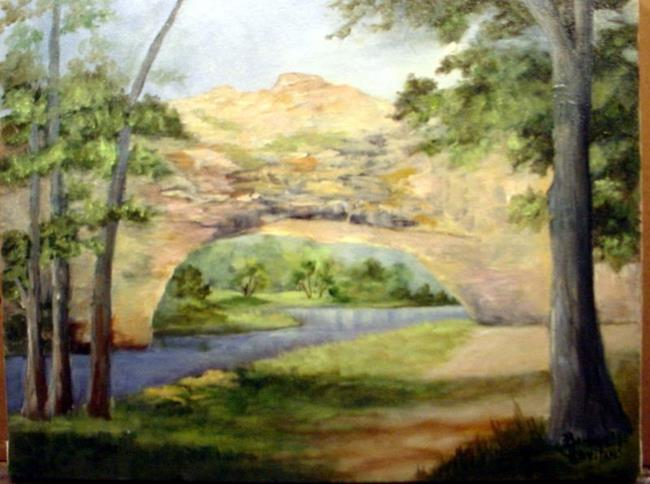 Art: Natural Bridge Wyoming//sold by Artist Barbara Haviland