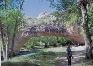 Detail Image for art Natural Bridge Wyoming//sold