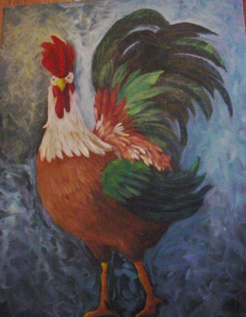 Art: Big Rooster//SOLD by Artist Barbara Haviland