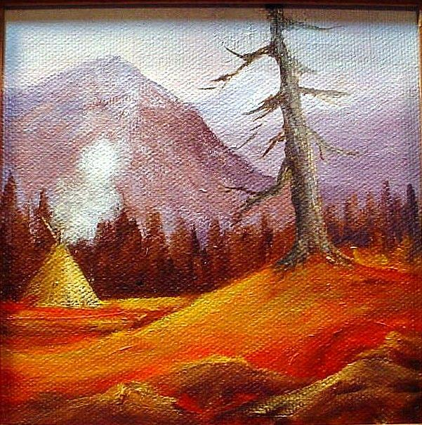Art: Autumn  A Landscape  sold by Artist Barbara Haviland