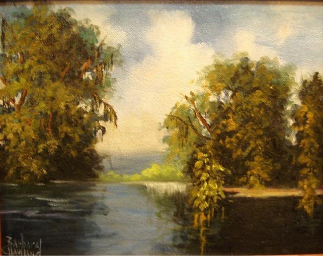 Art: Along The River    sold by Artist Barbara Haviland