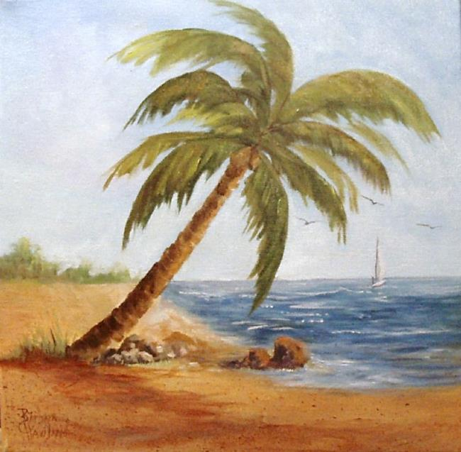 Canvaspanelholder5 by barbara haviland from for Painting palm trees