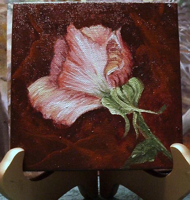 Art: Pink Rose Bud //SOLD by Artist Barbara Haviland