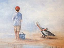Art: Tyler and the Pelicans  //sold by Artist Barbara Haviland
