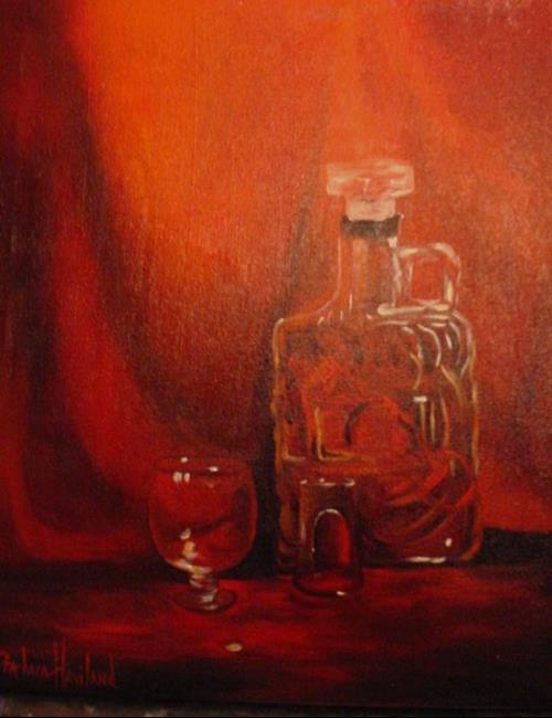 Art: Old Forrestor and a Shot Glass SOLD by Artist Barbara Haviland