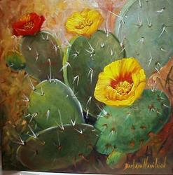Art: Cacti   SOLD by Artist Barbara Haviland