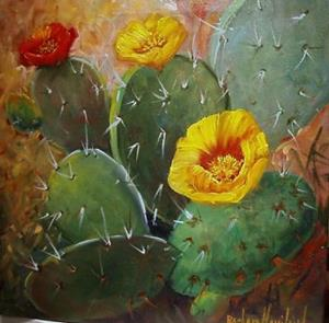 Detail Image for art Cacti   SOLD