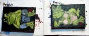 Detail Image for art Freddy and Fiona Frog Aceo's//SOLD