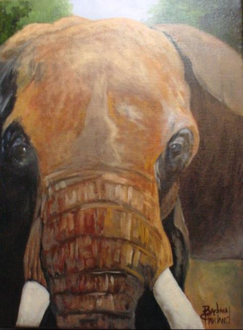 Art: Elephant  /// SOLD by Artist Barbara Haviland