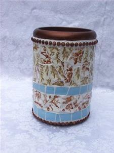 Detail Image for art Brown Transferware Wine Carafe (Sold)