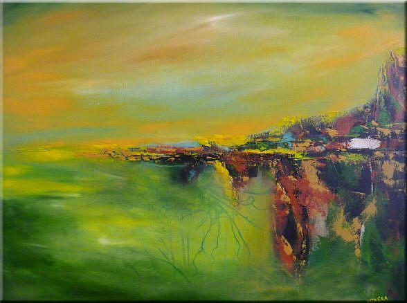 Original abstract landscape painting acrylic on canvas for Abstract nature painting
