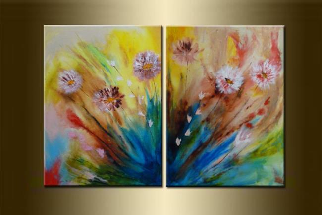 Original Abstract Flower Fl Acrylic Contemporary Painting On Textured Canvas Paintings