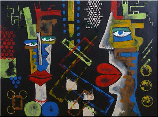 Art: ORIGINAL FIGURATIVE abstract PAINTING , MODERN Art      -      SOLD by Artist Nataera