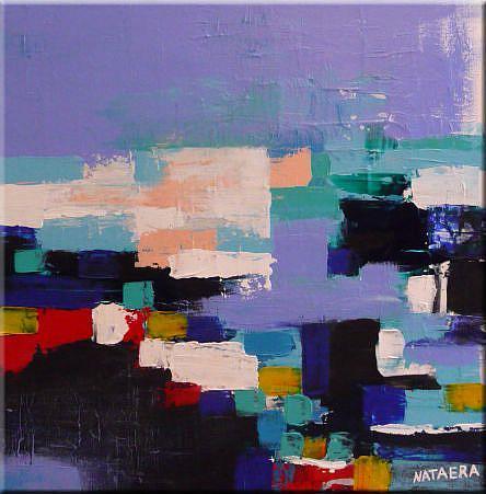 Art: ORIGINAL abstract PAINTING MODERN Art - SOLD by Artist Nataera
