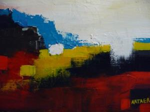 Detail Image for art ORIGINAL abstract LANDSCAPE PAINTING MODERN Art     -      SOLD