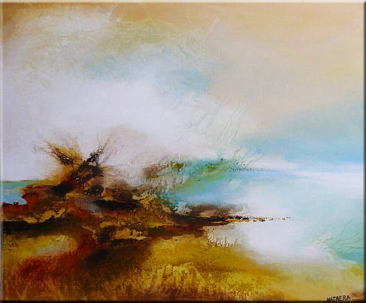 Original abstract landscape painting sold by nataera for Abstract nature painting