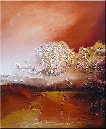 Art: ORIGINAL abstract LANDSCAPE PAINTING MODERN Art   -    SOLD by Artist Nataera
