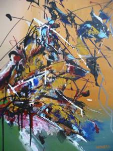 Detail Image for art ORIGINAL ABSTRACT PAINTING , MODERN ART      -      SOLD