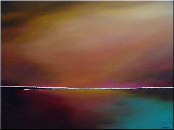 Art: ORIGINAL ABSTRACT LANDSCAPE PAINTING - SOLD by Artist Nataera