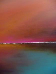 Detail Image for art ORIGINAL ABSTRACT LANDSCAPE PAINTING - SOLD