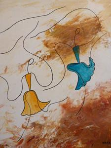 Detail Image for art ORIGINAL FIGURATIVE ABSTRACT PAINTING - SOLD