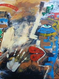 Detail Image for art ORIGINAL ABSTRACT FIGURATIVE PAINTING - SOLD