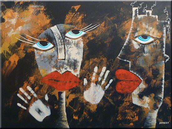 Art: ORIGINAL ABSTRACT FIGURATIVE PAAINTING - SOLD by Artist Nataera