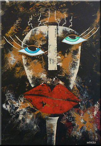 Art: ORIGINAL ABSTRACT FIGURATIVE PAINTING - SOLD by Artist Nataera