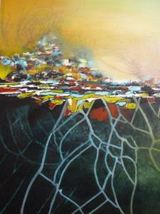 Detail Image for art ORIGINAL LANDSCAPE,ABSTRACT PAINTING - SOLD