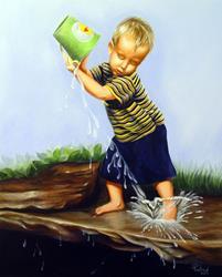 Art: Isaac's Bucket by Artist Rita C. Ford