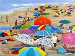 Art: Beach 'brellas by Artist Rita C. Ford