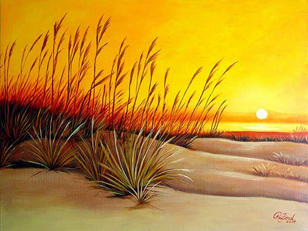 Sea Grass At Sunset By Rita C Ford From Paintings Oils