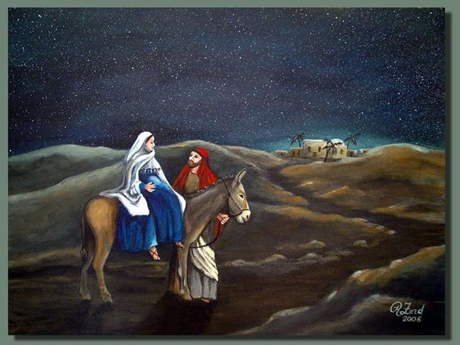 Art: Journey to Bethlehem by Artist Rita C. Ford