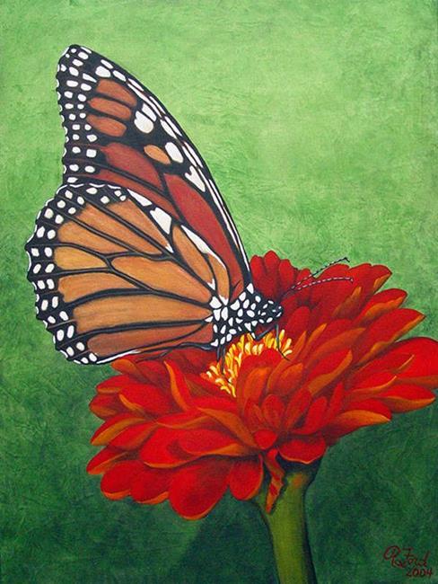 Art: Monarch Butterfly by Artist Rita C. Ford