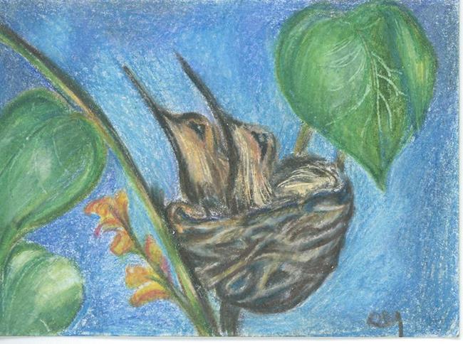 Art: Hummers by Artist Shirley James