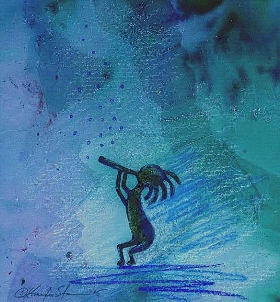 Art: Kokpelli #34 by Artist Kathy Morton Stanion