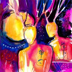 Art: Spirit Seekers 38 by Artist Kathy Morton Stanion