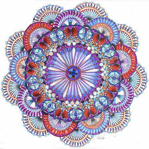 Art: The Patriot Mandala by Artist Alma Lee