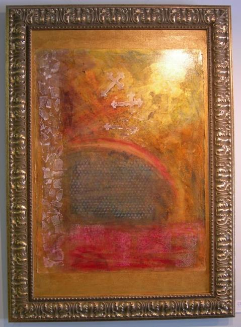 Art: Golgotha Falling NOT FOR SALE by Artist Terri L West