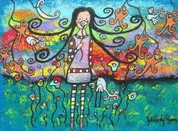 Art: She Dreams Of Spring by Artist Juli Cady Ryan