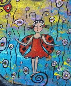 Detail Image for art She Celebrates Spring In Her Own Way
