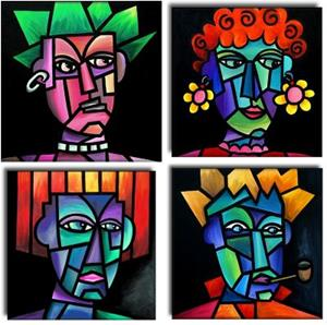 Detail Image for art Four  'Heads'  Are Better Than One!